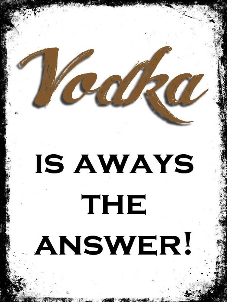 The Answer Is The Five Guardians Of The Frink Lanterns Or: VODKA IS ALWAYS THE ANSWER Canvas Print
